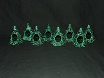 8 Vintage Ceramic Christmas Tree Napkin Holders in Wheaton, Illinois