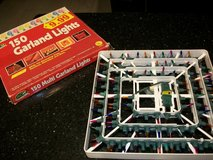 NEW VINTAGE Stand Up 150 Garland Multi Color Strand Christmas Lights in Kingwood, Texas