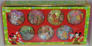 Retired Set of 7 Disney Store Christmas Ornament Deck the Halls Bambi Alice Jungle Book in Houston, Texas