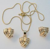 Gold Tone Necklace & Earrings Set in Ramstein, Germany