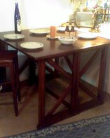 Flip Top Solid Oak Counter Height Table in Cleveland, Ohio