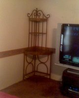 REDUCED! Metal/Glass Corner Shelf in Conroe, Texas