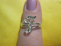 """NEW Sterling """"F"""" Initial Ring in Fort Polk, Louisiana"""