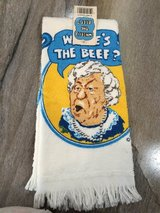 """Where's the Beef?""-Hand/dish towel in Fort Campbell, Kentucky"