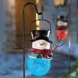 Hanging Snowman Solar Stake Path Light (2-Pack) in Hinesville, Georgia