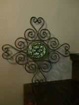 Wall decor metal and glass cross in Cleveland, Texas