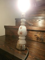 Vintage milk glass lamp with hand painted roses in Cleveland, Texas
