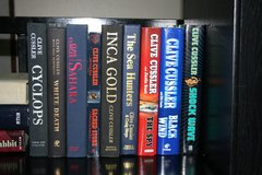Clive Cussler Hardback Books in Livingston, Texas