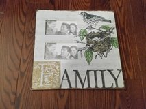 Family picture frame wall art in Naperville, Illinois