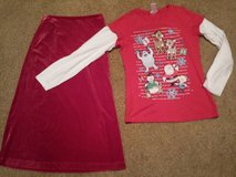 Girls 7/8 Gap Skirt Holiday, 10 Justice Shirt Christmas Holiday in St. Charles, Illinois