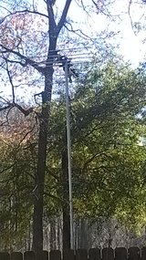 large outdoor antenna in Perry, Georgia