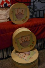 Hat box shaped children's themed boxes in Houston, Texas