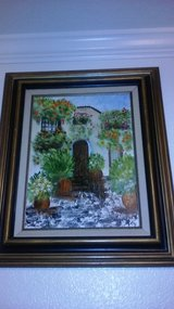 2 oil paintings of cottages in Italy 19x23 in Travis AFB, California