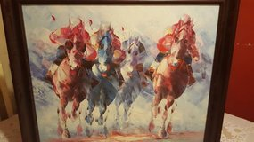 Signed Numbered Original Painting on Canvas Horse Racing by Tom in Summerville, South Carolina