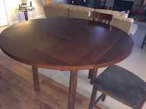 Round Extension Dining Table with Lazy Susan in Fort Lewis, Washington