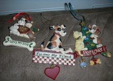 Puppy Dog Pet Lover Christmas Ornament Lot Kitty Cat Resin in Houston, Texas