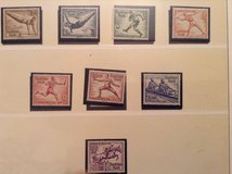 1936 German summer Olympics stamps in Fort Carson, Colorado