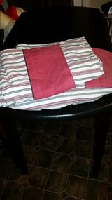 Red / White Striped Twin Sheet Set in Clarksville, Tennessee