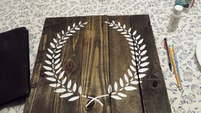 Personalized pallet wood sign in Camp Lejeune, North Carolina