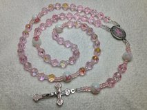 Rosary Breast Cancer Awareness Pink Special Medal and Crucifix Czech Crystal Beads AB Finish Pat... in Kingwood, Texas