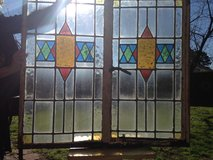 20% OFF ALL Leaded English Stain Glass Window's Pair in  Frame in Cherry Point, North Carolina