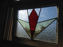 "40% OFF Antique Stain Glass Leaded ""Pair"" of Window's in Cherry Point, North Carolina"