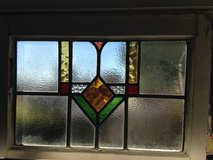 Antique English  Leaded Stain Glass Window in Cherry Point, North Carolina