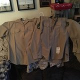 Khaki long sleeve and short sleeve blouses size 16 in Camp Lejeune, North Carolina