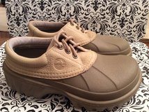 NEW. Crocs Water Proof Leather Boat Shoes. Size 5M / 7W in Camp Lejeune, North Carolina