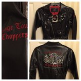 Orange County Chopper leather jacket in Spring, Texas