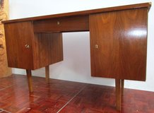 Medium Size Mid Century Desk with Locking doors in Ramstein, Germany