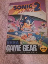 Sonic 2 Hedgehog Game Gear booklet in Kingwood, Texas