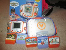 Vtech V.Smile Pocket Learning System with 5 games, car charger and carrying case. (Have the orig... in Elizabethtown, Kentucky