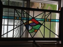 Antique English Leaded Stain Glass Window in Camp Lejeune, North Carolina