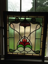 Large English Leaded Stain Glass Window in Camp Lejeune, North Carolina