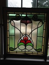 Antique Large English Leaded Stain Glass Window in Camp Lejeune, North Carolina