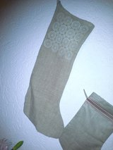 Burlap and Lace Christmas Stocking new in Ramstein, Germany