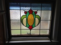 Large English Leaded Stain Glass Window many colors Bold Design in Cherry Point, North Carolina