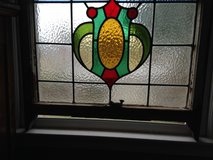 Antique Large English Leaded Stain Glass Window many colors Bold Design in Camp Lejeune, North Carolina