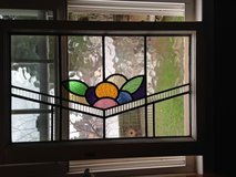 Large English Leaded Stain Glass Window many colors Bold Design in Camp Lejeune, North Carolina