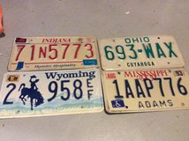 Stateside license plates,14 left for sale, various states in Ramstein, Germany