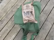 Sea Bag with 10 M.R.E.s in Beaufort, South Carolina