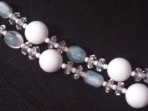 """Vintage Retro 16 """" blue and white necklace in Spring, Texas"""