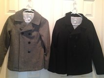 Two girls pea coats in Baytown, Texas