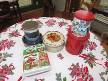 Assortment of Christmas Cookie/Candy Tins in Yorkville, Illinois