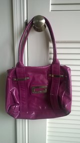 NEED GONE!-Authentic Purple/Glossy Orchid Colored Guess Purse-(Zippered Shoulder Bag) in Naperville, Illinois