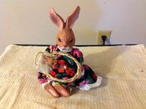 NIB Porcelain Rabbit Sitter with Baby Rabbit in Cherry Point, North Carolina