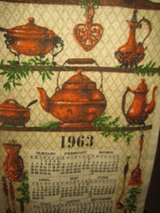 Two linen calendars 1963 1964 in Houston, Texas