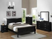 NEW !! 5 piece Sleigh Bedroom Sets.Cherry ,Black or white 399.00. 25.00 down and no credit needed. in Wilmington, North Carolina