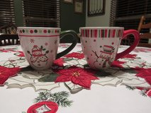 Holiday Mugs~Snowmen in Yorkville, Illinois